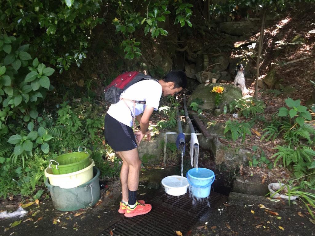山では水しか補給できないことも